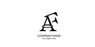 Letter AF Logo
