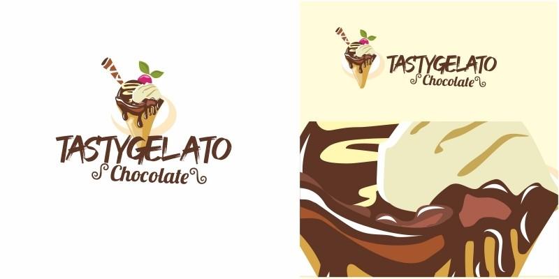 Tasty Gelato Ice Cream Logo