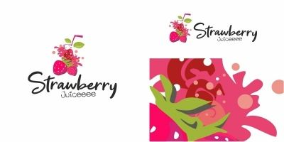 Strawberry Juice Logo