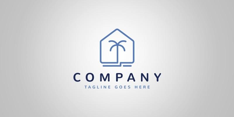 Beach House Logo Template