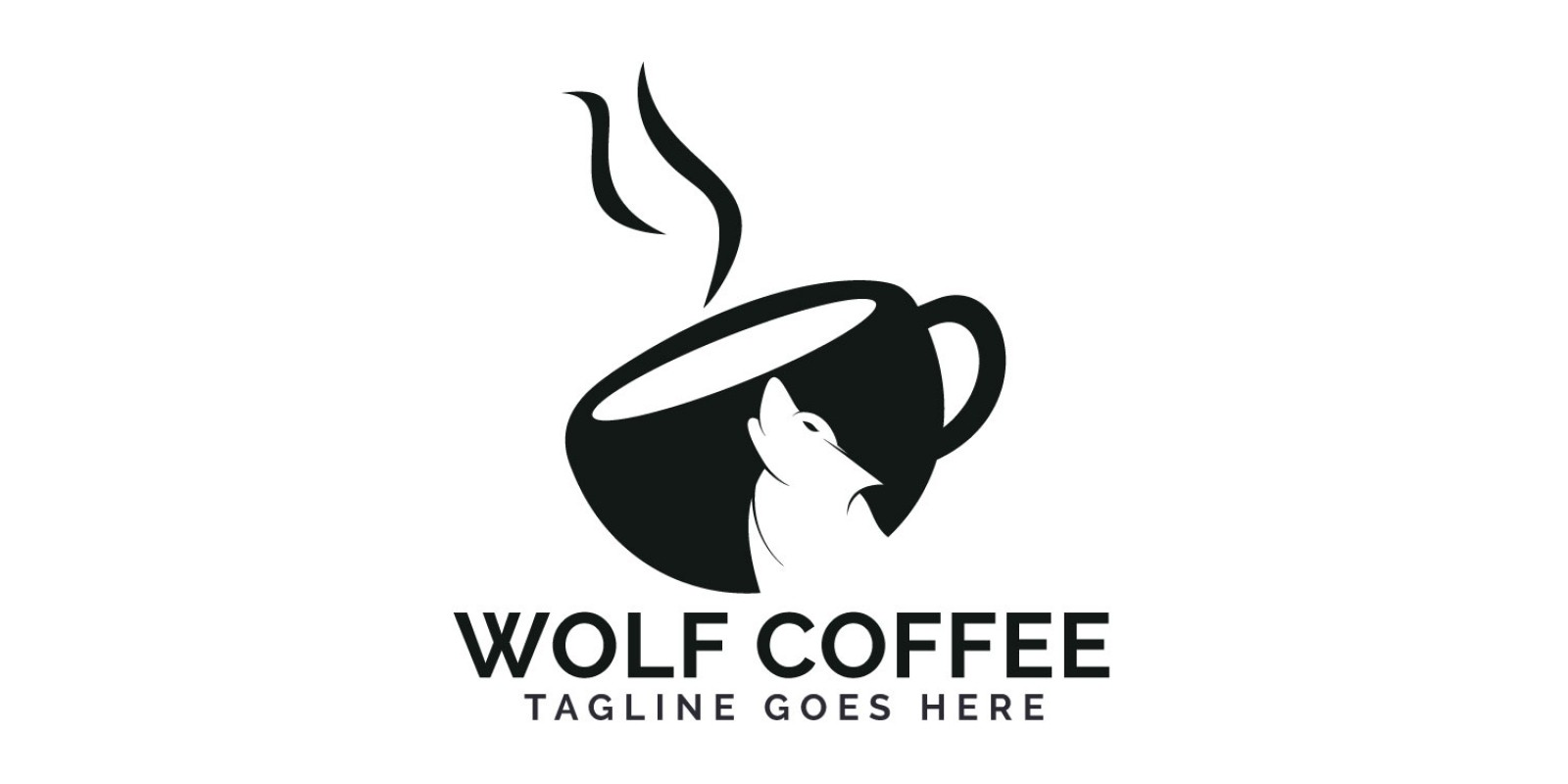 Wolf Coffee Logo Design
