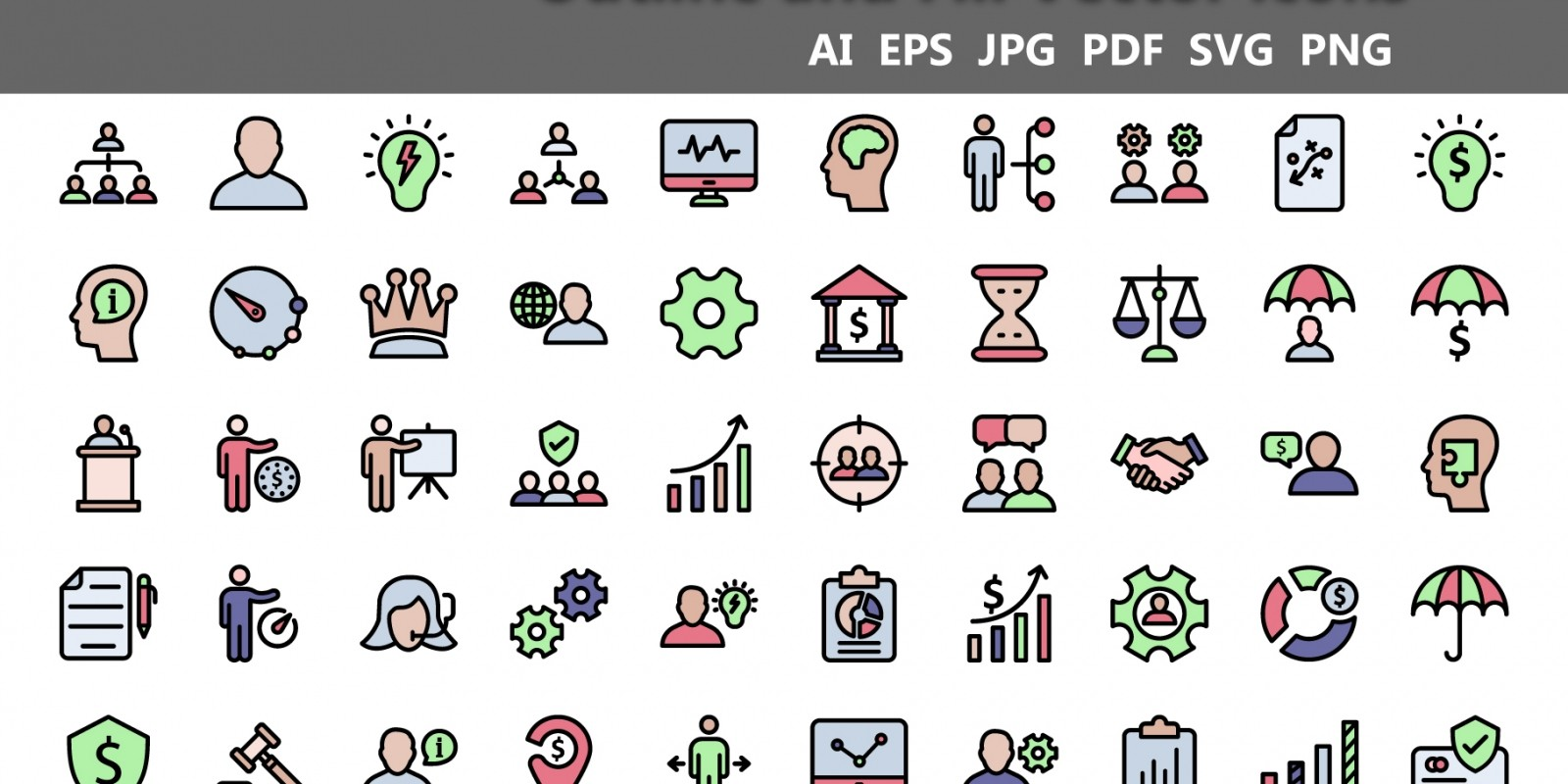 Finance and Marketing Vector Icons