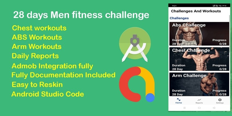 28 Day Men Fitness Workout Challenge - Android