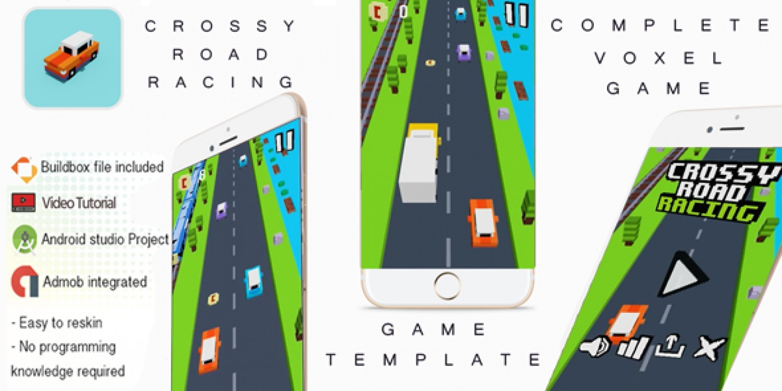 Crossy Road Racing Buildbox 3 Template With Admob