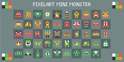 Pixelart Mini Monster