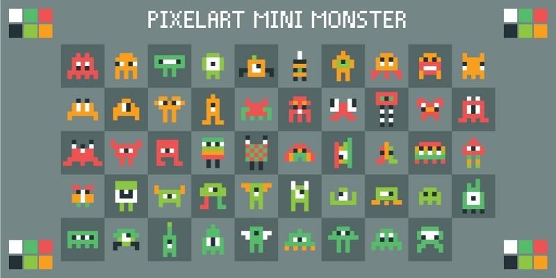 Pixelart Mini Monster