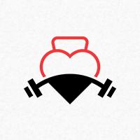 Fitness Love Logo Template
