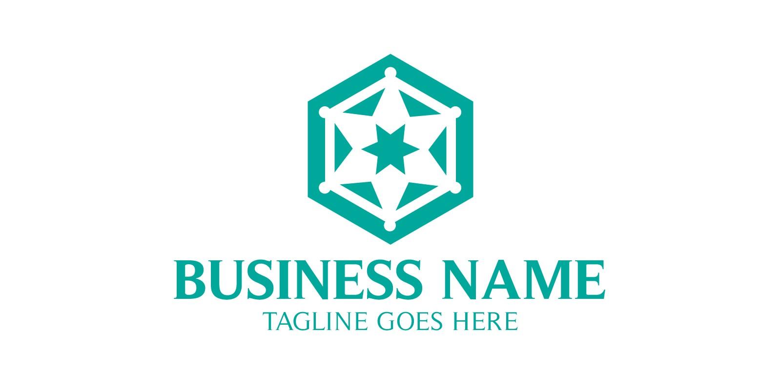 Tech Hexagon and Star Logo