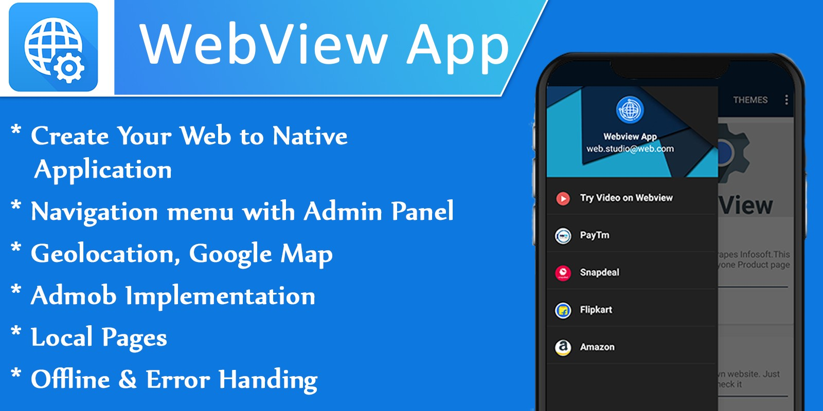 Webview with Admin Panel Android Source Code