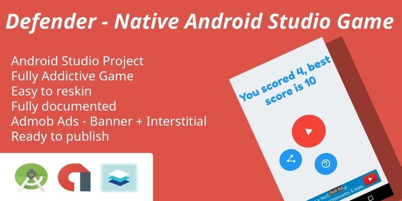 Defener - Native Android Studio source code