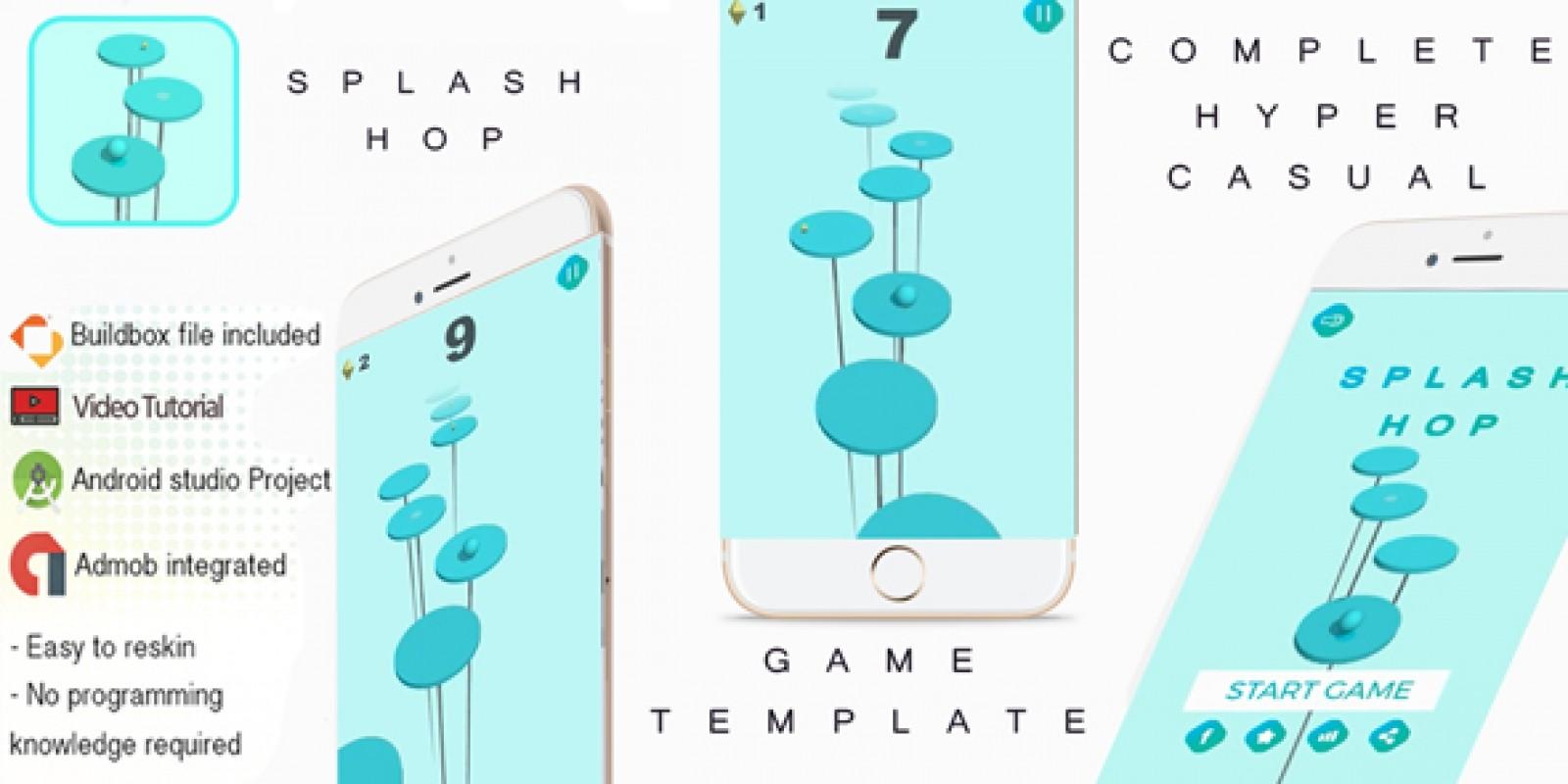 Splash Hop Buildbox 3 Template With Admob
