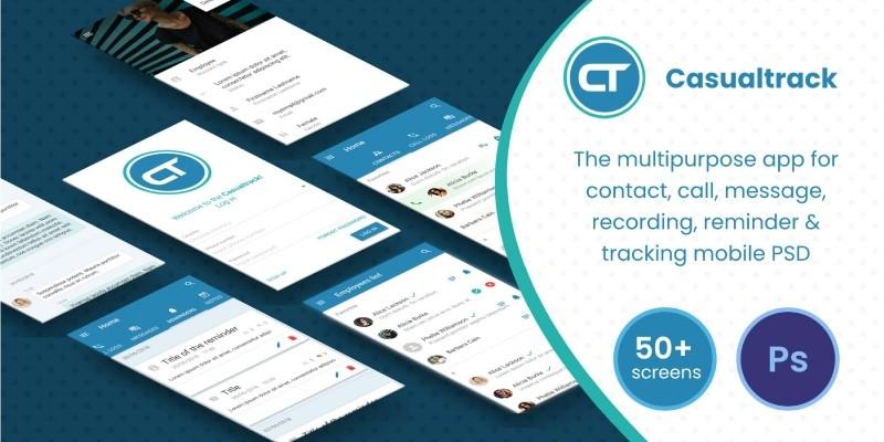 Casualtrack - Mobile App PSD