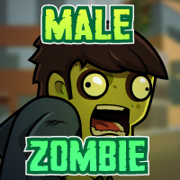Male Zombie 2D Game Character Sprites 01