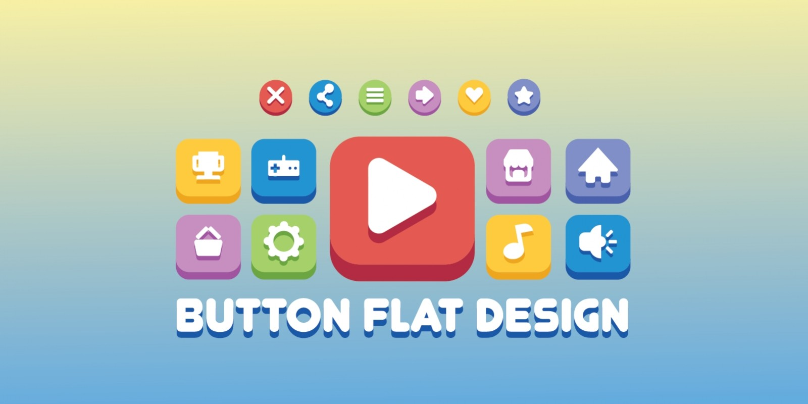 GUI Button Flat Design