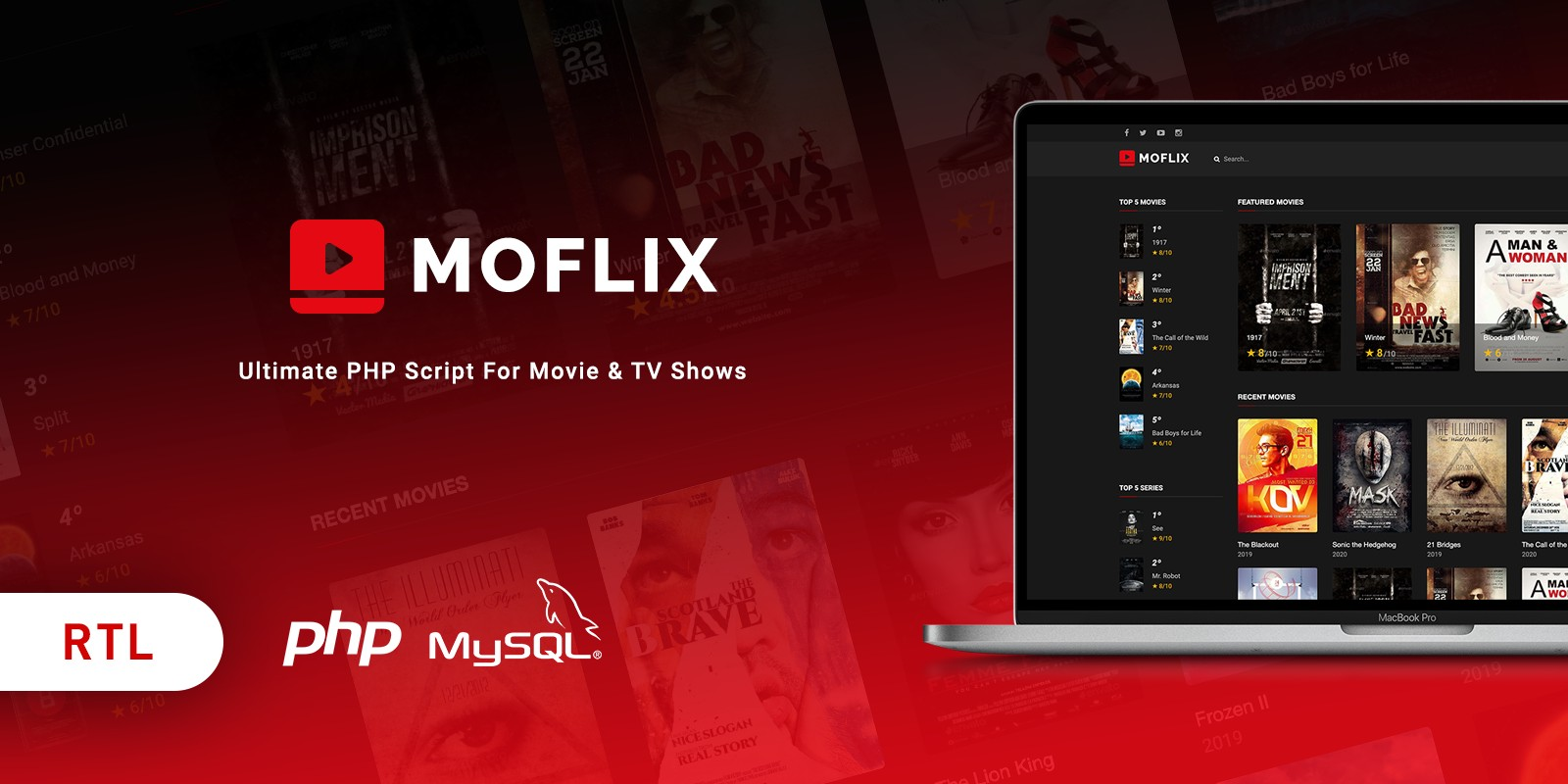 MoFlix - Ultimate PHP Script For Movie And TV Show