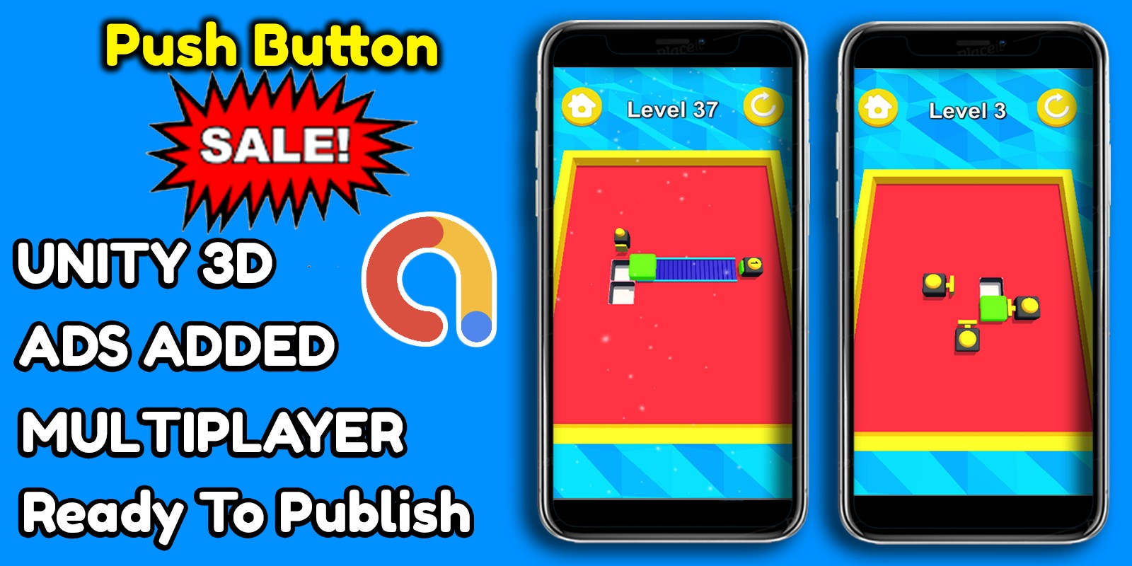 Push Button Unity Game Source Code