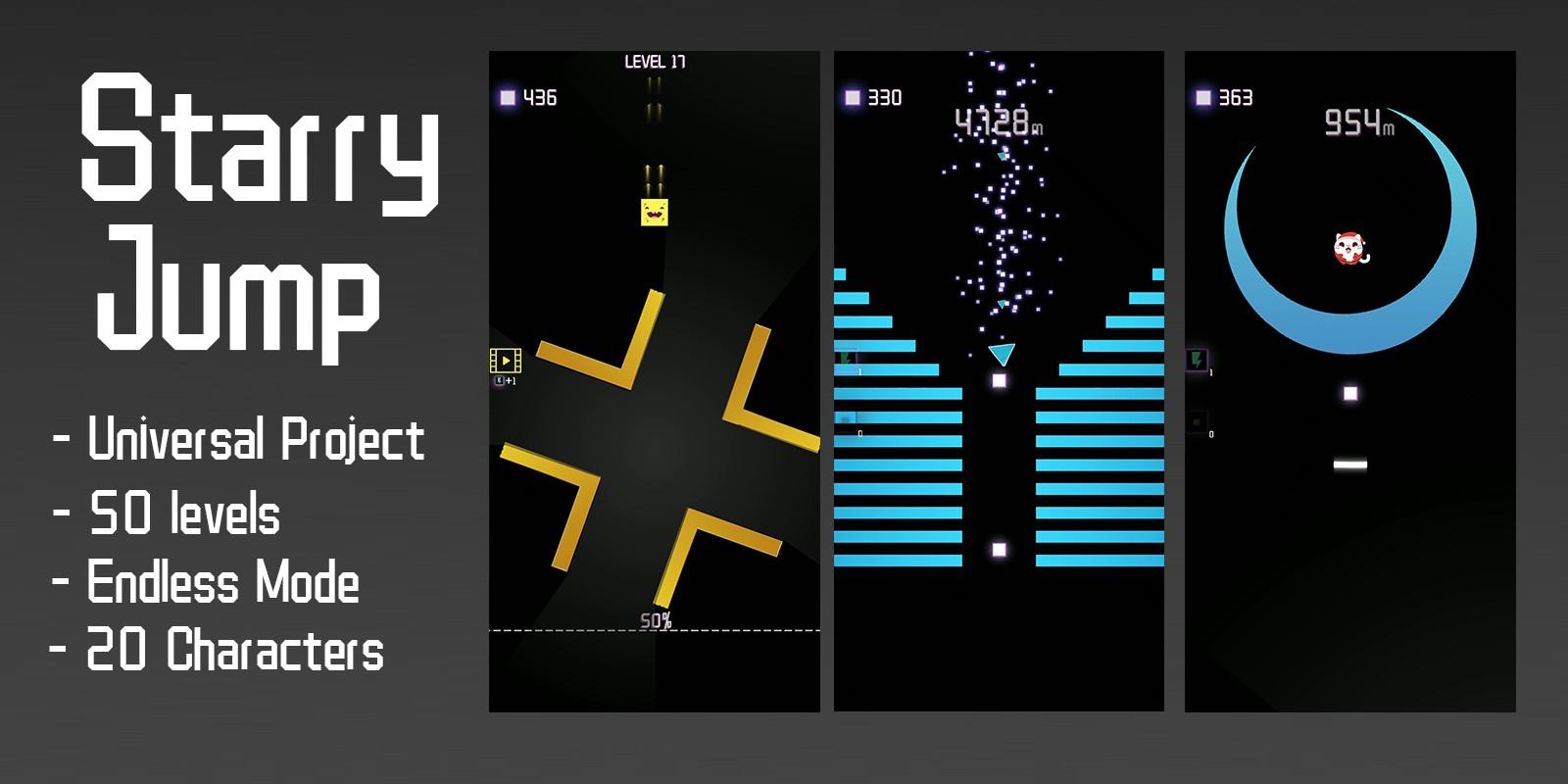 Starry Jump - Buildbox Template