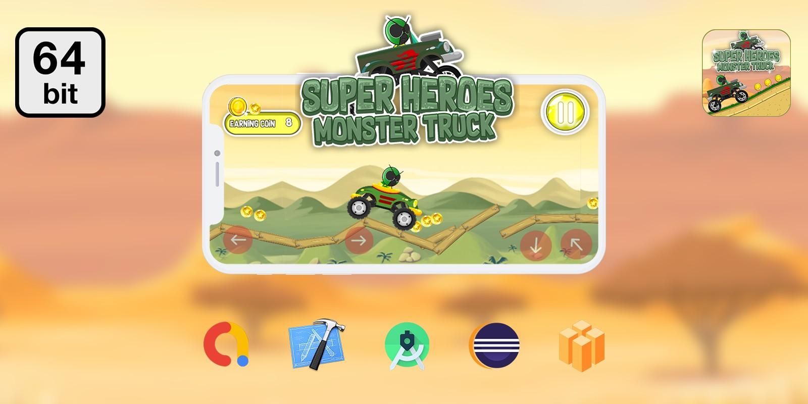 Monster Truck 64 bit - Buildbox Template