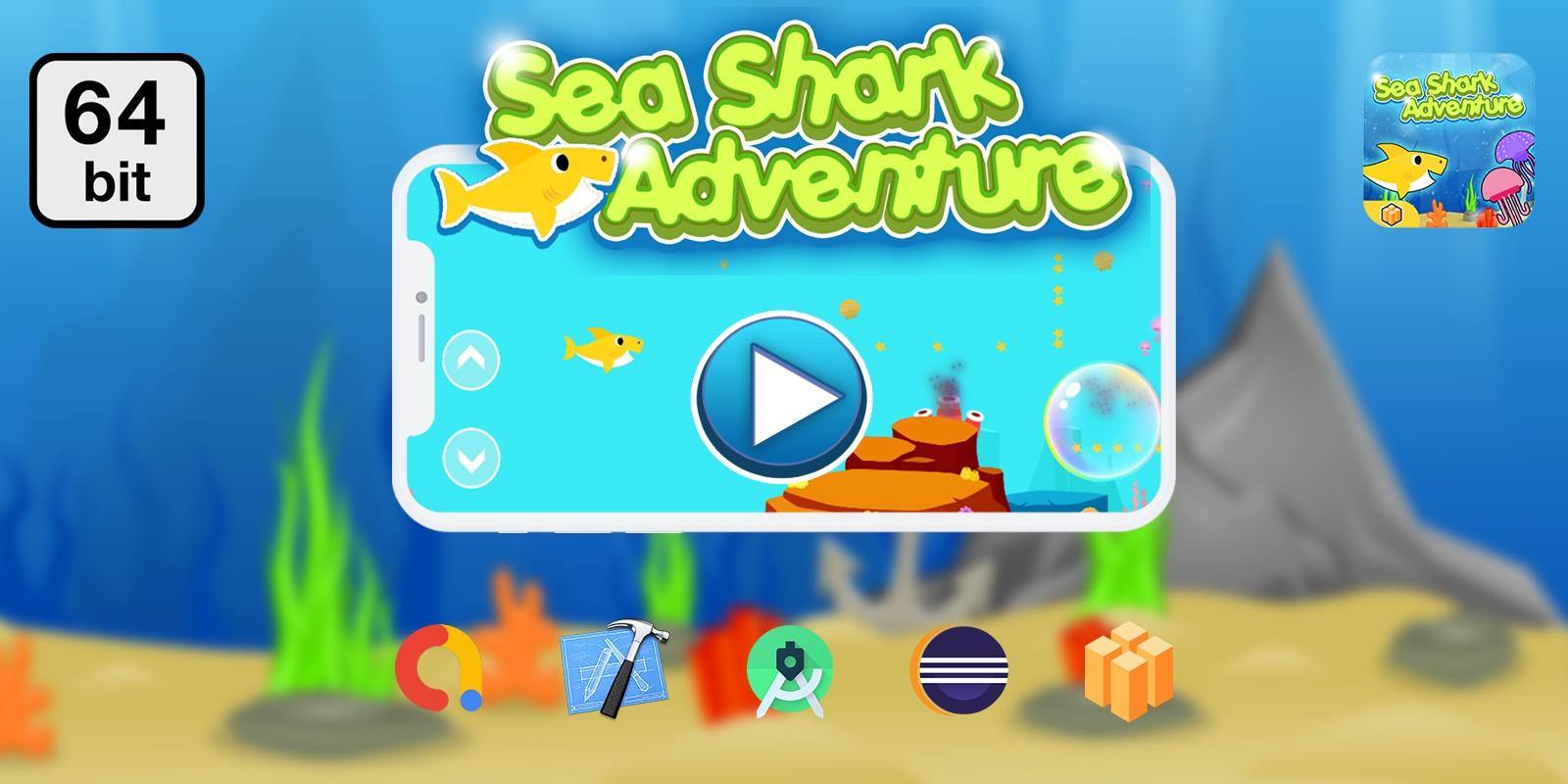 Sea Shark Adventur 64 bit - Buildbox Template