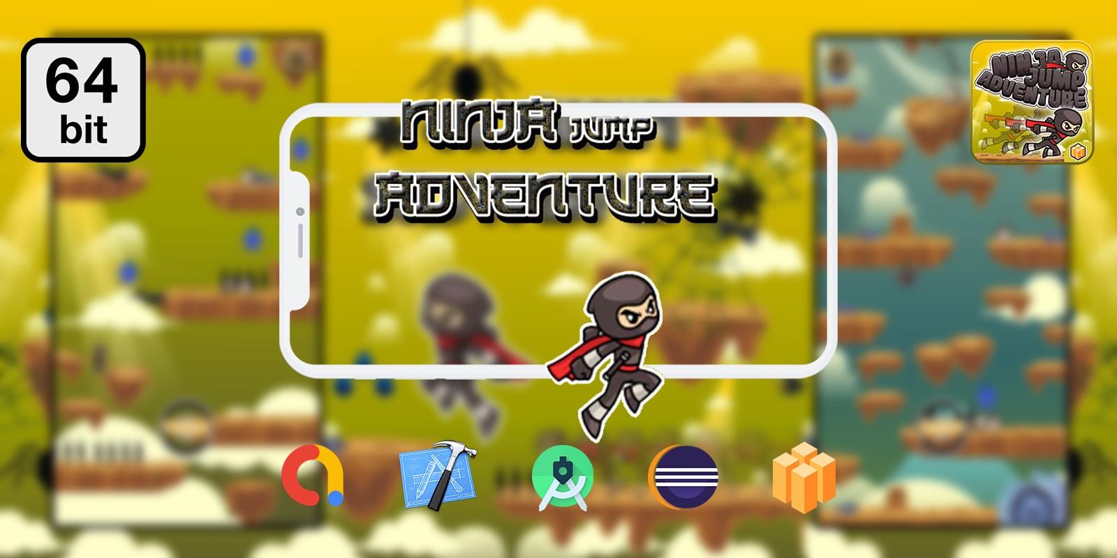 Ninja Jump 64 bit - Buildbox Template