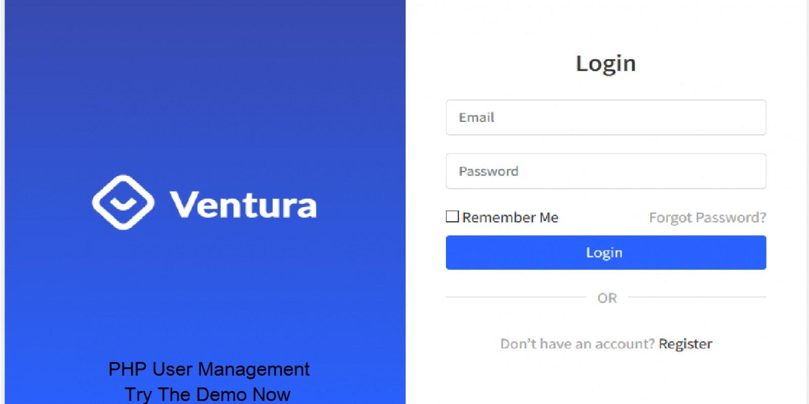 Ventura - User Management PHP Script