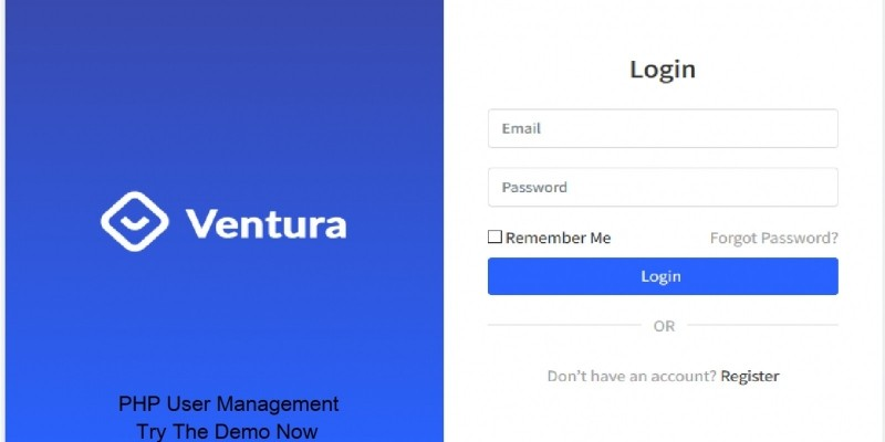 Ventura - User Management PHP Script