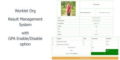 Worklet Org - Result Management System Script