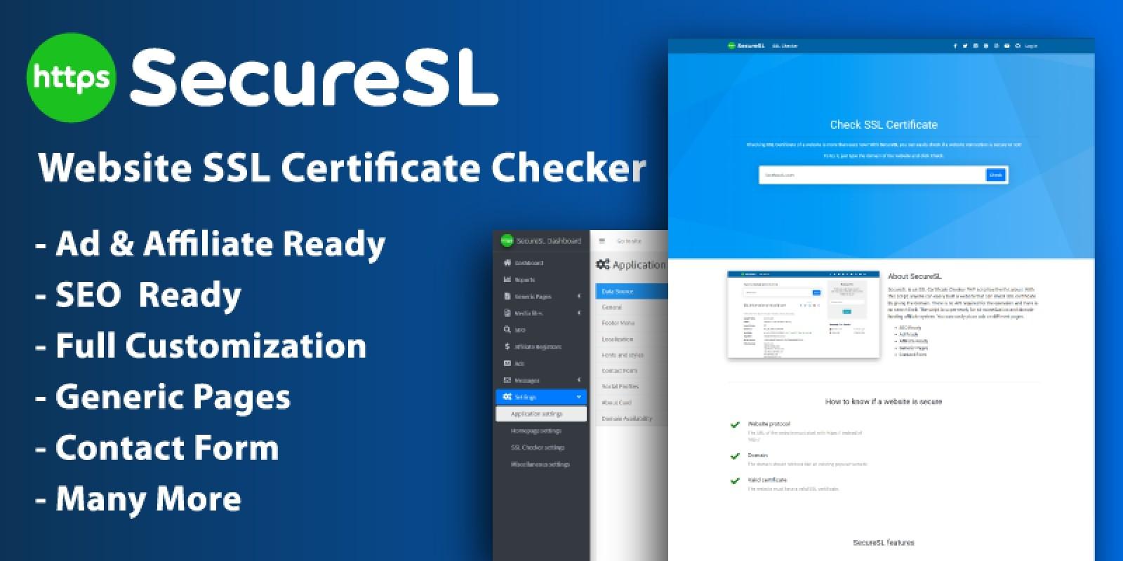 SecureSL - Website SSL Certificate Checker Script