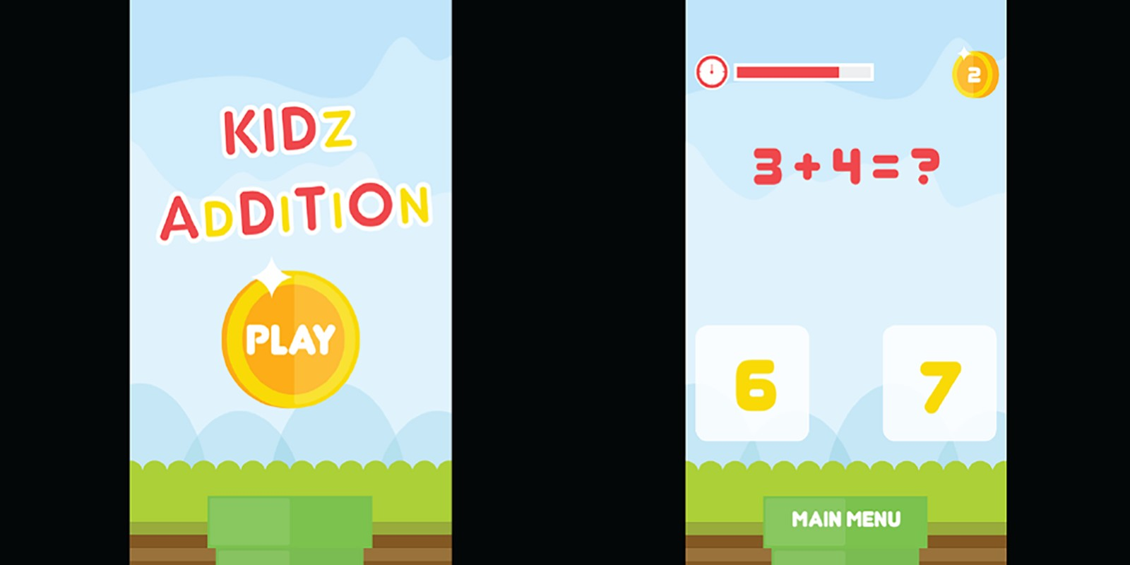Kidz Addition Construct 2 Game Template