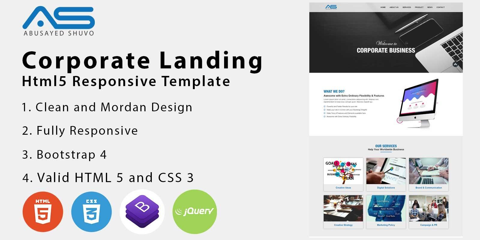 Abussayed - Corporate HTML5 Landing Page