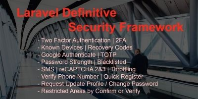 Laravel Definitive Security Framework