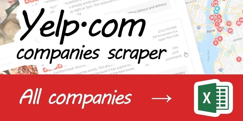 Yelp scraper .NET