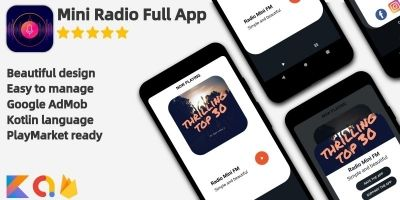 Radio Mini - Android App Source Code