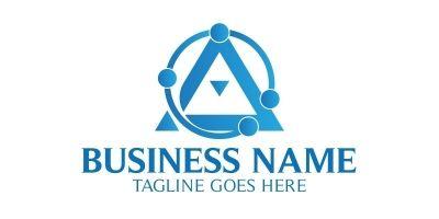Diagram A Letter Logo