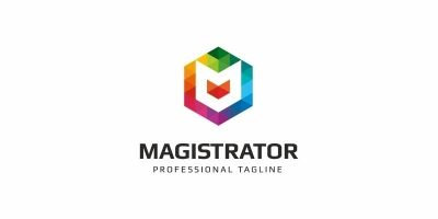 Magistrator M letter Colorful Logo