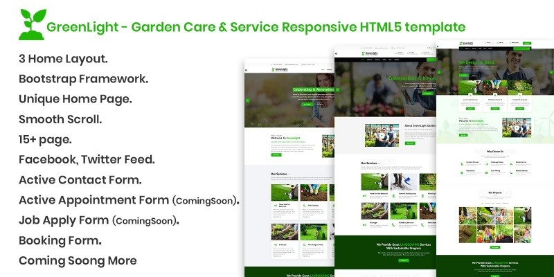 GreenLight - HTML Template