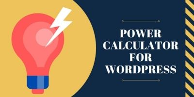 Power Calculator For Wordpress