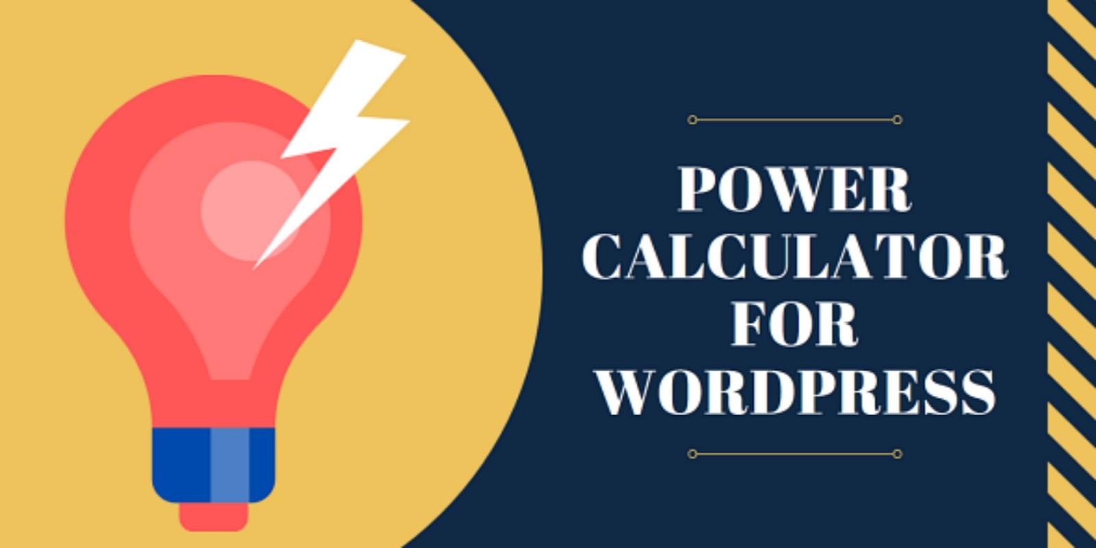 Power Calculator For Wordpress