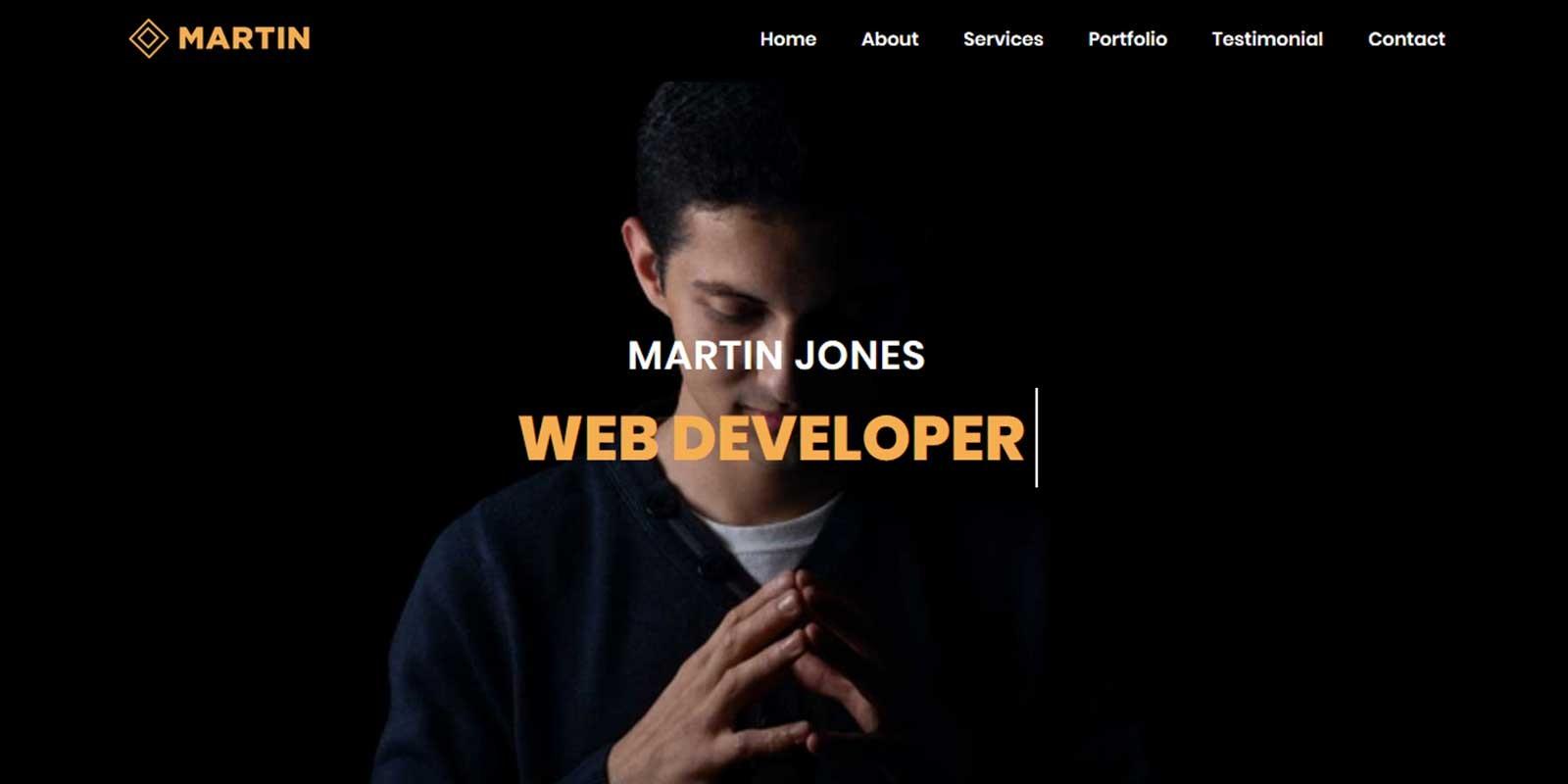 Martin - Personal Portfolio Bootstrap 4 Template