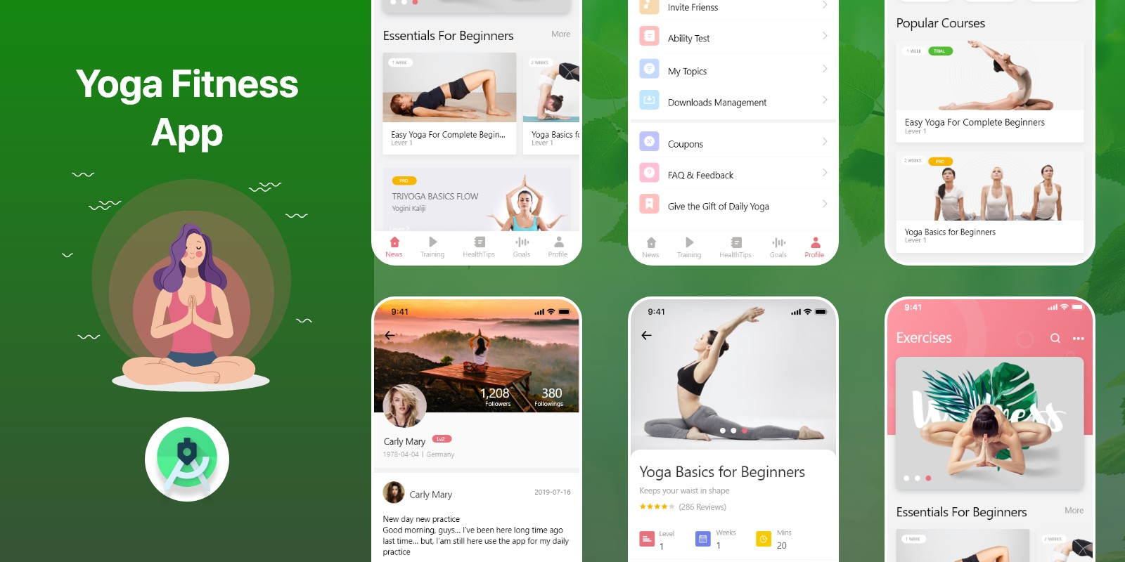 Yoga Fitness - Android Studio UI Kit
