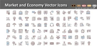 Market and Economics Vector icons