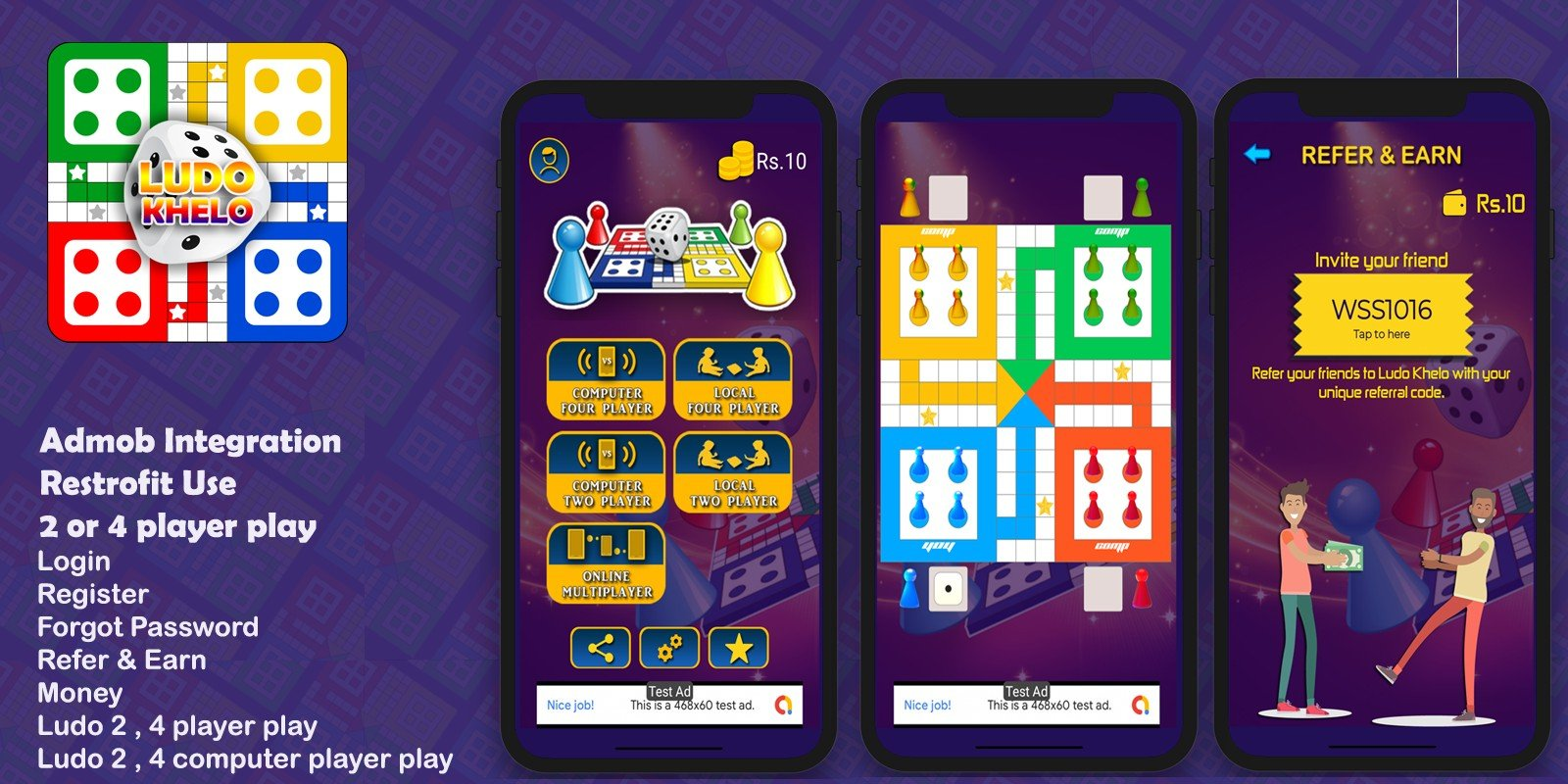 Ludo Khelo Game - Android Studio Source Code