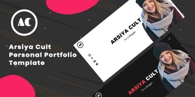 Arsiya Cult - Personal Portfolio Website Template