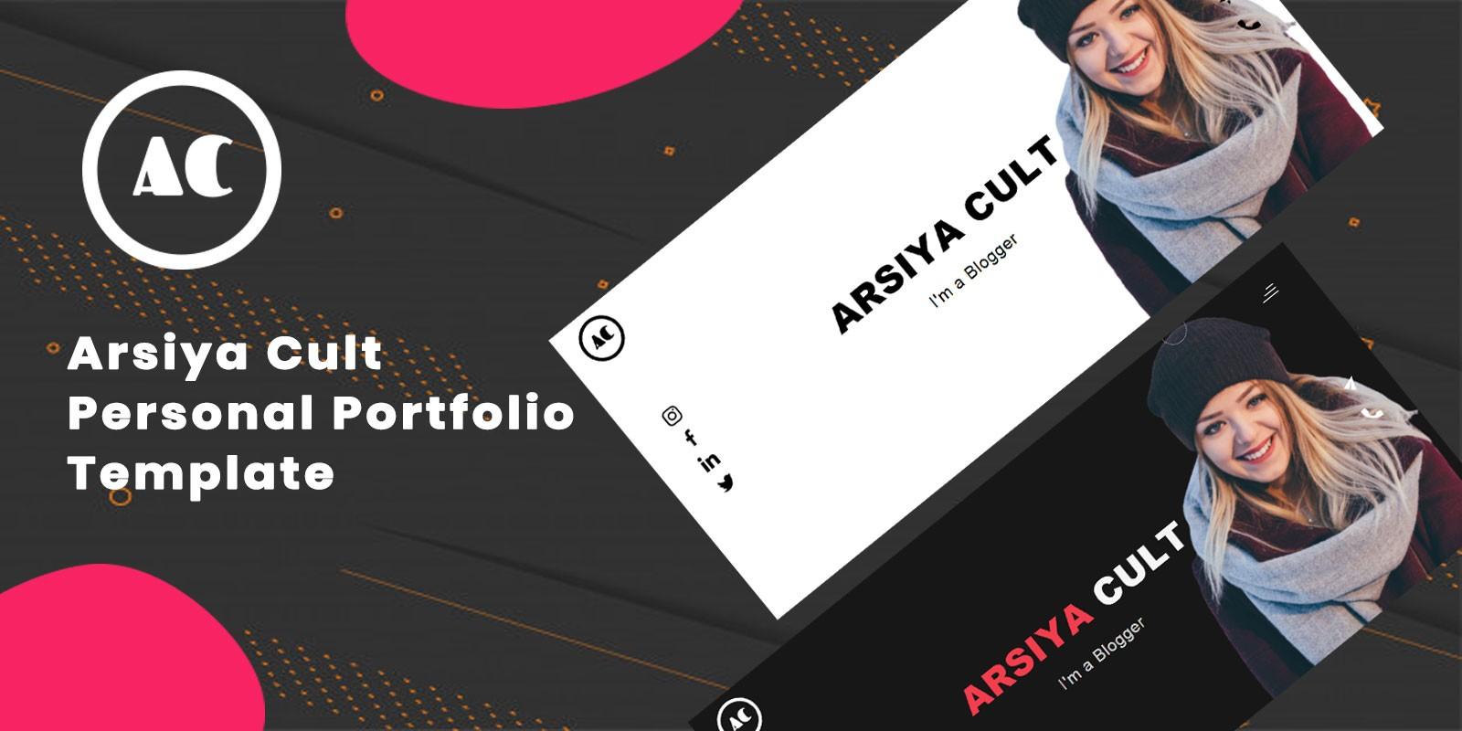 Arsiya Cult - Personal Portfolio Website Template