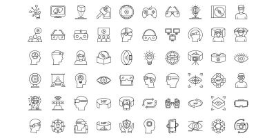 440 Virtual Reality Vector icons