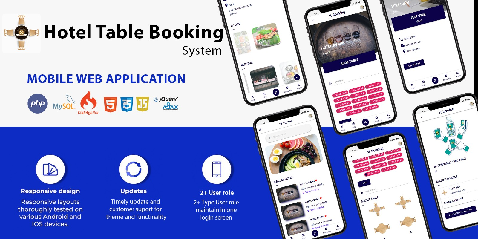 Table Booking - Restaurant Table Booking system