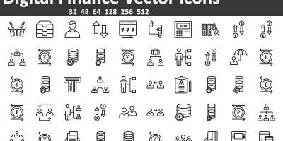 Digital Finance Vector icons