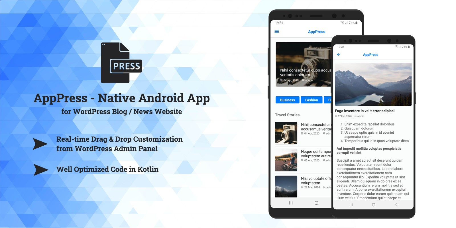 AppPress - Android App for your WordPress Blog