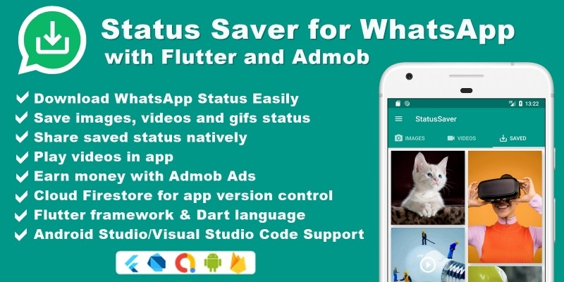 Status Saver For WhatsApp With Flutter And Admob