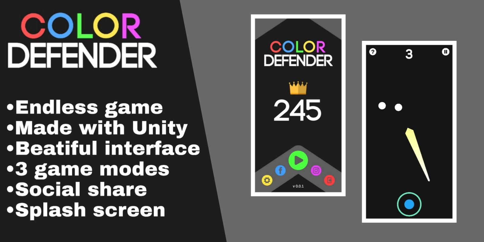Color Defender - Completed Unity Project